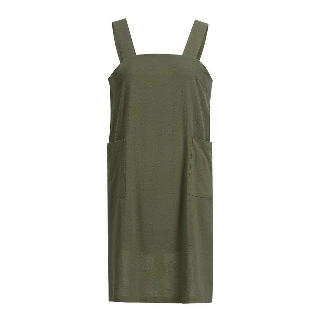 2019 Women Cotton Linen Pinafore Square Cross Apron Garden Work Pinafore Dress YAliDA Boutique Skirt