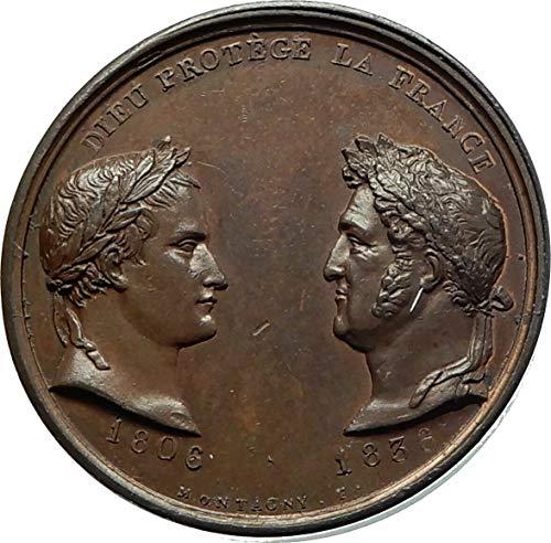 - 1836 FR 1836 FRANCE Napoleon Bonaparte & Louis Philippe I coin Good