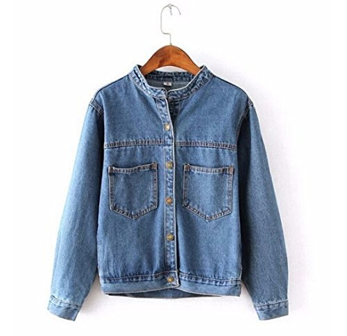 Fashion 2016 Autumn Vintage Women's Jeans Loose Denim Jacket Women Short Jean Jacket jackets for women Outwear (Guess Jeans Big And Tall)
