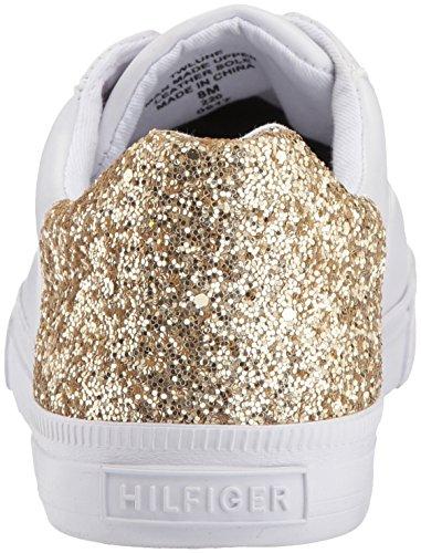Tommy Hilfiger Dames Lune Sneaker Wit / Goud