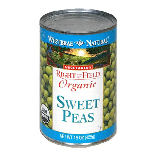 Westbrae Natural Organic Sweet Peas, 15 Ounce Cans (Pack of 12)