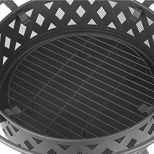 Brasero Chauffage Cheminées Grill Brasier Extérieur Chauffage Brazier Poêle À Bois Fire Grill Patio Chauffage Poêle À Bois Brazier Bonfire Barbecue Multifonction (Size : A)
