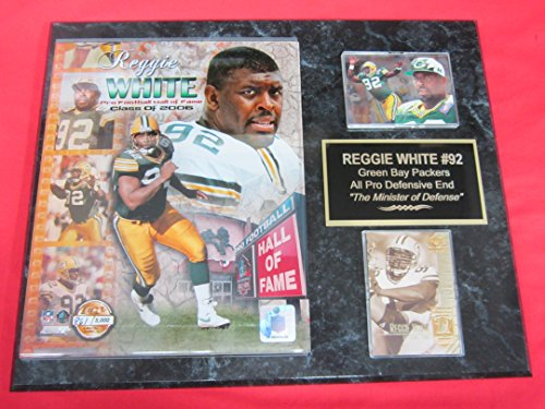 Green Bay Packers Reggie White 2 Card Collector Plaque Hall of Fame w/8x10 LIMITED EDITION NUMBERED Photo