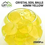 2000PCS WATER BALLS GROWING CRYSTAL SOIL AQUA BEADS 6.8MM YELLOW GEL DECOR