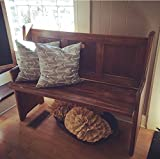 pews for sale Hallway Foyer Entryway Pew Bench In Your Choice of Color and Size