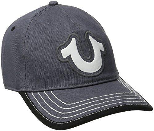 True Religion Men's Puff Shoe Baseball Cap, Factory Grey, One Size