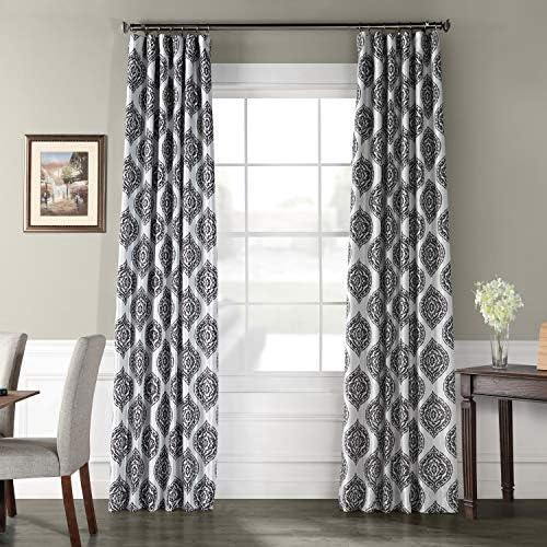 HPD Half Price Drapes PTPCH-170808B-96 Designer Printed Blackout Curtain 1 Panel , 50 X 96, Donegal Grey