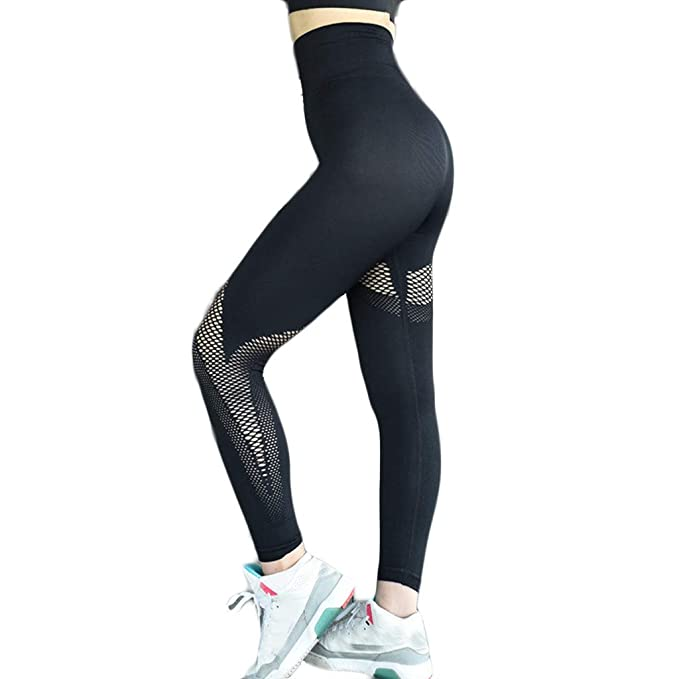 Amazon.com: Stretch Yoga Pants -Womens Seamless Sports ...