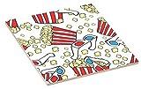 Rikki Knight 3D Popcorn and Glasses Design Design Ceramic Art Tile 4'' x 4''