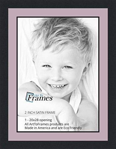 Amazoncom 20x28 20 X 28 Picture Frame Satin Black 2 Wide With