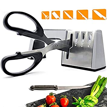 GAYBJ Afilador de Cuchillos de Cocina Profesional 4 Etapa ...