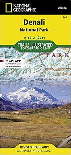 Denali National Park Topographic Map.Denali National Park And Preserve National Geographic Trails