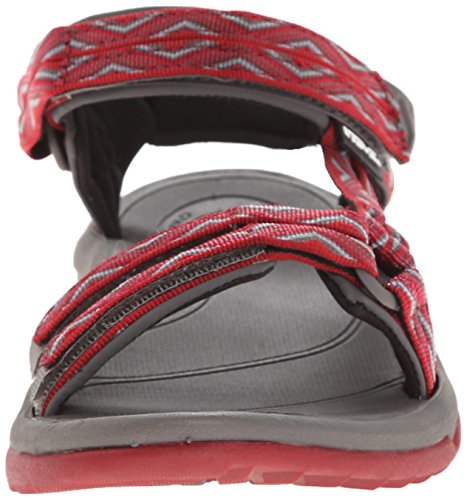Teva Damen Terra FI Lite Sandale Trueno Rot