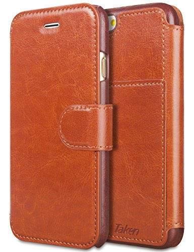 Wallet Flip Leather Case with Card Bag Holder for iPhone 6 Plus/6s Plus Brown - 8