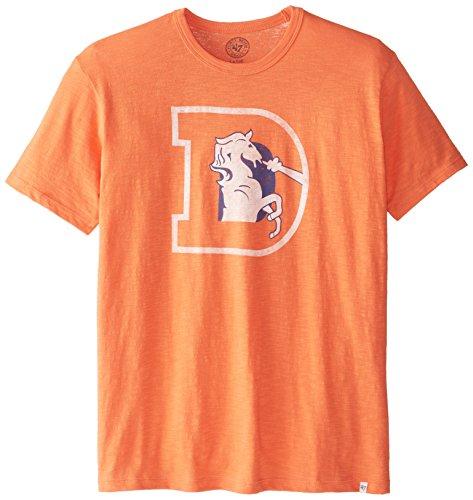 NFL Denver Broncos Men's '47 Brand Scrum Basic Tee (Style 2), Carrot, ()