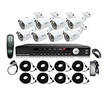 STOiC Tech 16 Channel HD 1080P Surveillance DVR System with 8 IR Cameras