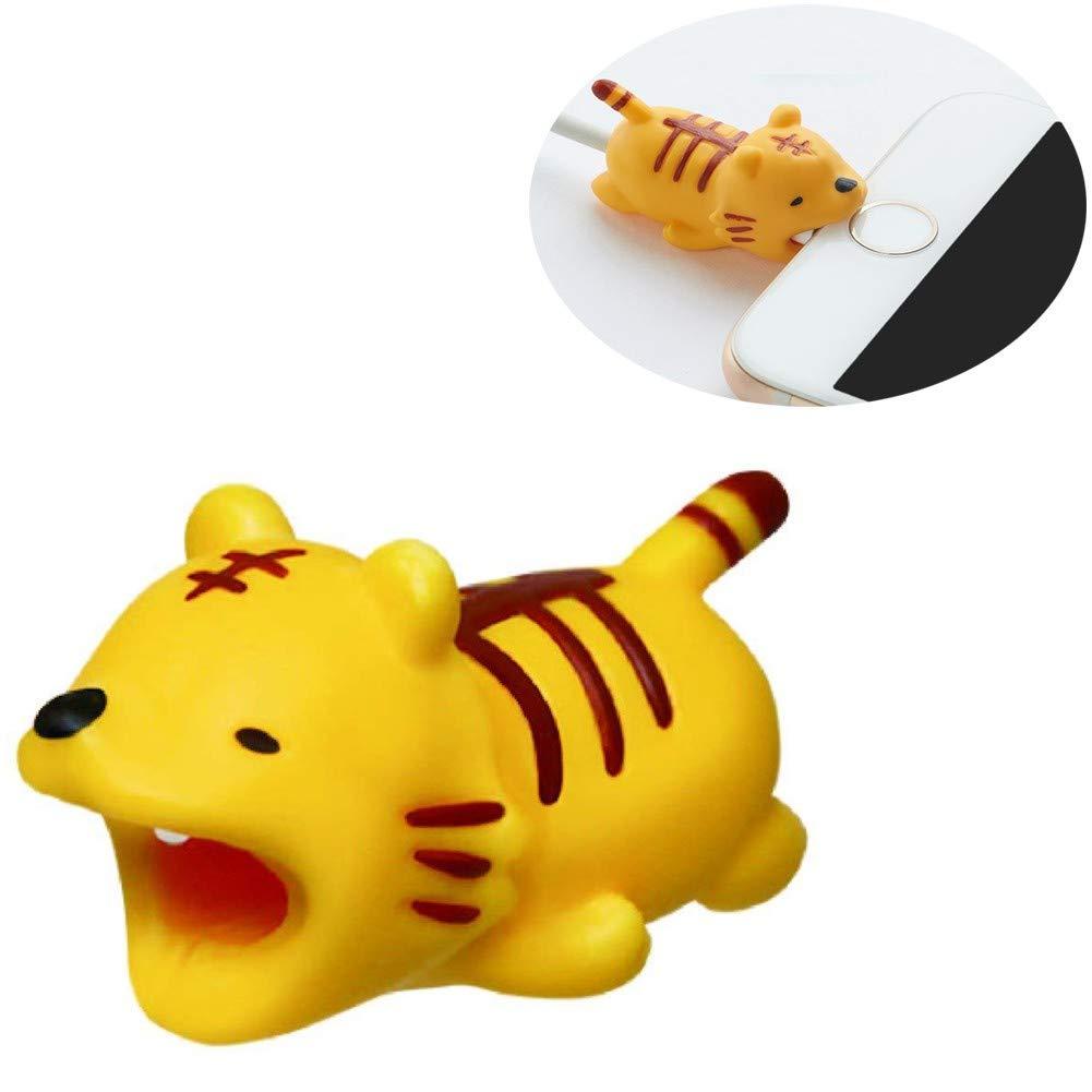 NEEDOON 1 Stücke USB Kabel Protector Cute Animal Biss Geeignet für alle Arten Handys Pads, schöne Mini Multifuction Telefon Zubehör für sicheres Aufladen