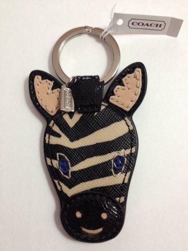 New COACH 68559 Zebra Key Ring FOB