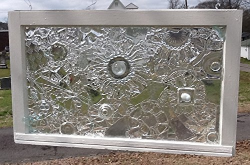 Crystal and Stained Glass Window Art Sun Catcher 32 x 19 inch