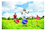 11 Piece Outdoor Giant Kick Croquet Game Set