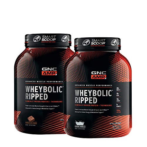 GNC AMP WheybolicTM Ripped Classic Flavors Bundle (Gnc Whey Protein Vs On Whey Protein)