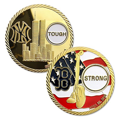 911 Terrorist Attack in New York Bomb Attack in Boston Commemorative Coin Commemorative Challenge Coin