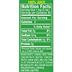 ReaLemon 100% Lemon Juice, 8 Fluid Ounce Bottle 9 One 8 fluid ounce bottle 100% lemon juice from concentrate Great for use in recipes and beverages