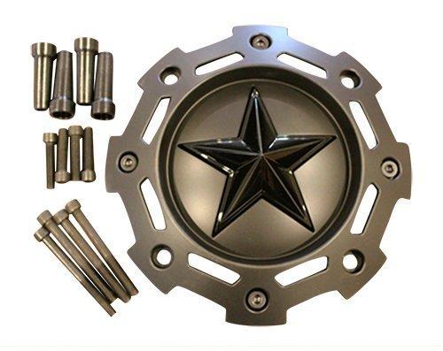 XD-SERIES-KMC-811-Rockstar-2-Matte-Black-w-Black-Star-Center-Cap-SC-198-SC-190