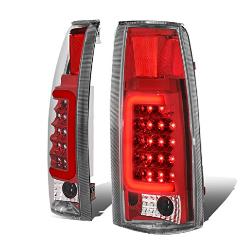 Chevy / GMC C/K-Series Pair of 3D LED Tail Brake Lights (Chrome Housing Red Lens)