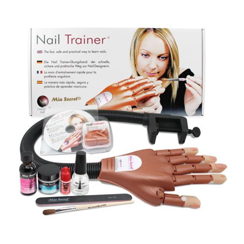 Mia Secret Professional Mechanical Hand Trainer W Acrylic Nail Set For Beginners or Student by Mia Secret