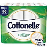 Cottonelle Ultra GentleCare Toilet Paper, 48 Double Rolls, Sensitive Bath Tissue with Aloe & Vitamin E: more info