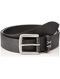 Armani Exchange Men's Textured Leather Buckle Belt