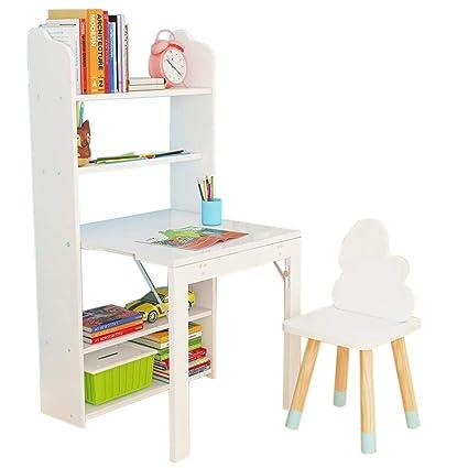 ACZZ Scaffale pieghevole Libreria per bambini S Study Table ...