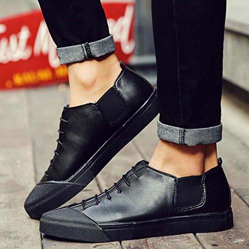 ZXCV Zapatos al aire libre Los zapatos cómodos ocasionales de los deportes de los zapatos de los hombres calzan los zapatos de los hombres salvajes de la marea salvaje Negro
