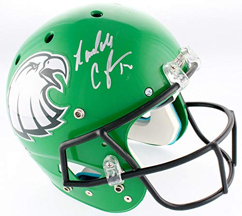 (Randall Cunningham Autographed Signed Eagles Full Size Authentic Memorabilia On -Field Helmet Beckett)