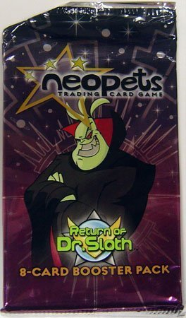 Cards Trading Booster Neopets (Neopets Trading Card Game Return of Dr. Sloth Booster Pack)