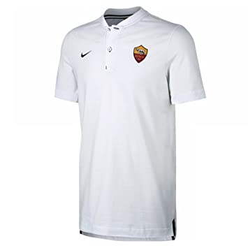 1deac373103 Nike 2017-2018 AS Roma Authentic Grand Slam Polo Football Soccer T-Shirt  (White)  Amazon.co.uk  Sports   Outdoors