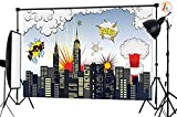 LB 7x5ft Super City Vinyl Photography Backdrop Customized Photo Background Studio Prop HR01