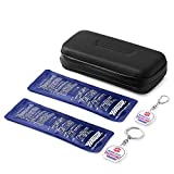 Hiverst Waterproof Insulin Travel Cooler Case, Insulated Diabetic Medicine Organizer with 2 Medicine Inside Key Tag & 2 Ice Pack, Auvi-Q, EpiPen, Allergy Kids Medical Supplies Carrying Case