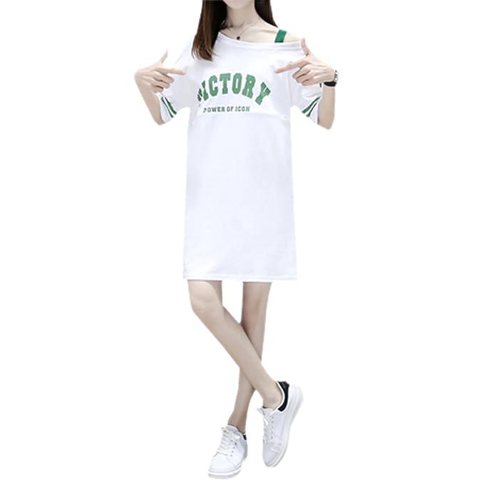 XFentech Mujer Embarazo Vestido Lactancia - Moda Premamá Blusa Maternidad de Manga Corta Camiseta Vestidos Verano