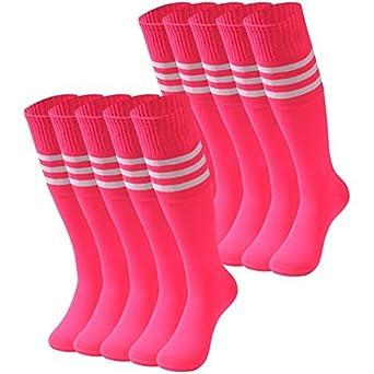 77ff57ca49b Amazon.com  Pink Knee High Socks