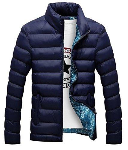 Invernale Uomini Outwear Impermeabile Piumini Blu Scuro Spessore Silm Angelspace Frangivento w5Hx6qwX