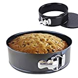 "iPstyle Non Stick Round Springform Cake Pan 8 Inch Springform Pan Cheesecake Pan Leakproof Cake Pan Bakeware Loose Base Cake Baking Tin Interlocking Bakeware (Round - 8"" 20CM)"