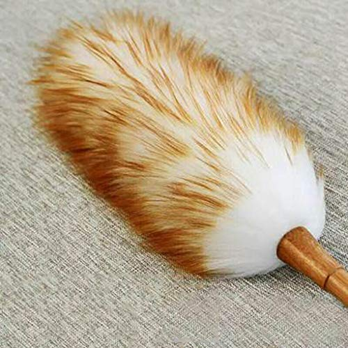 ZHANGY Ostrich Feather Makeup/Role Playing Accessories/Props Dust Scorpion Wooden Handle Cleaning The Donkey by ZHANGY (Image #3)