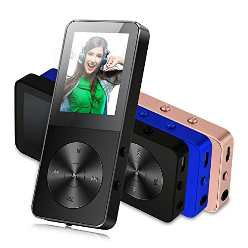 MP3 Player, FecPecu Music Players Updated Version 8GB Hi-Fi Sound 35 Hours Playback , Portable Audio Player Build-in Speaker With Voice Recorder and FM Radio Expandable Up To 64GB (Black)