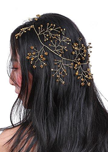 Missgrace Crystal Bridal Headband Wedding Hairpiece Hair Accessories -Women Evening Party Halloween Hair Accessories -