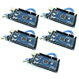 MEGA2560 Micro Controller Board with ATmega2560 and ATMega16U2 Development Board Arduino Mega2560 Compatible with USB Cable from Optimus Electric Pack of 5