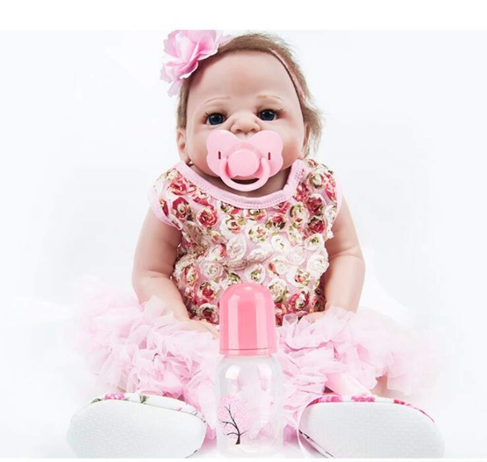 Hongge Reborn Baby Doll,Realistische Neugeborene Wiedergeburtspuppe Simulation Babypuppe Spielzeug 57cm