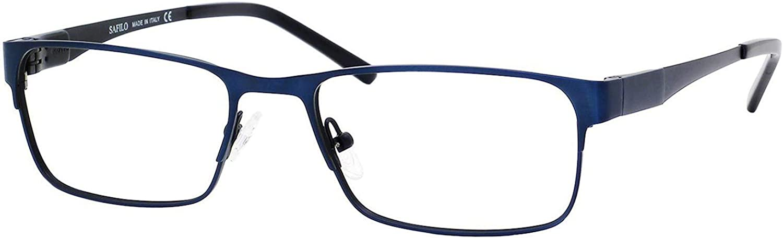 Elasta Metal Ranking TOP17 Rectangular Eyeglasses Regular store Blue 55 Black 0JWV