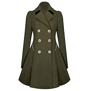 Leey Damen Kleider Jacke Mantel Winterkleider Wintermantel